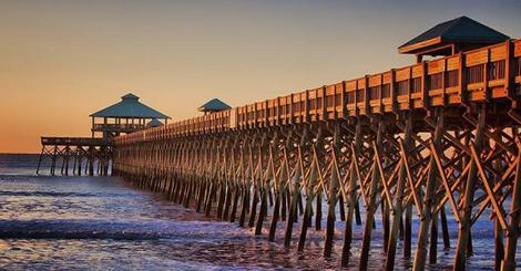 Folly Beach Pier South Carolina