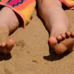 Play in the sand at Folly Beach